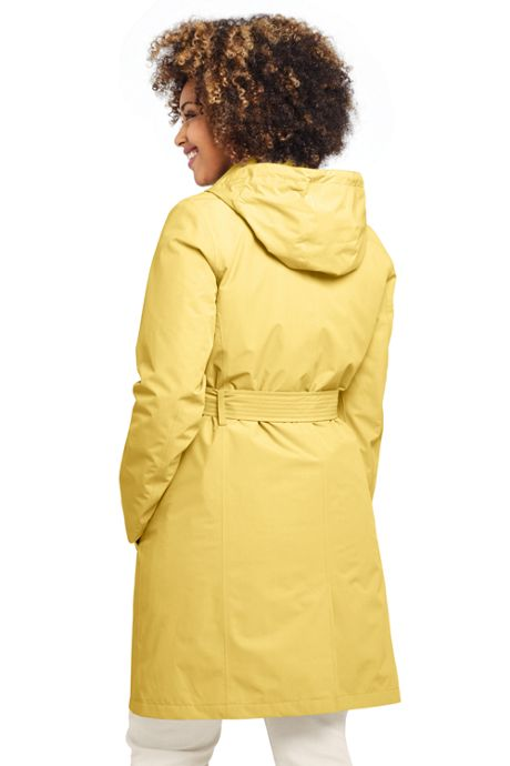 Women's Plus Size Hooded Waterproof Long Raincoat