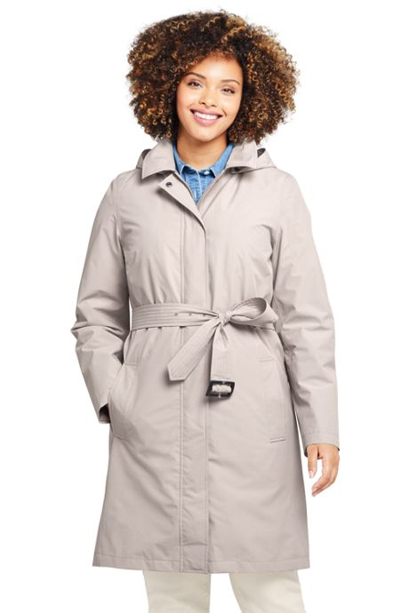 new style select for official authentic Women's Plus Size Hooded Waterproof Long Raincoat, Plus Size ...
