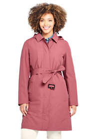 Women's Plus Size Hooded Waterproof Long Raincoat