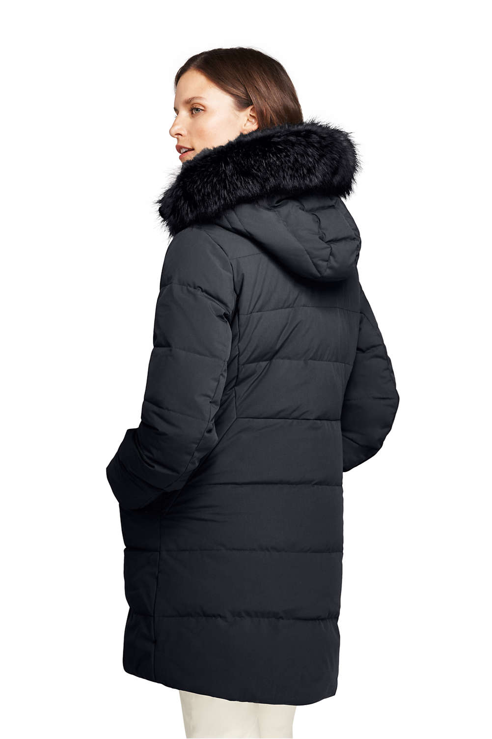 e2ff362e10a Women s Stretch Long Down Coat from Lands  End