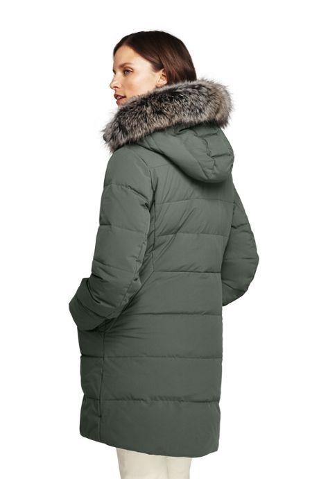 Women's Stretch Long Down Coat