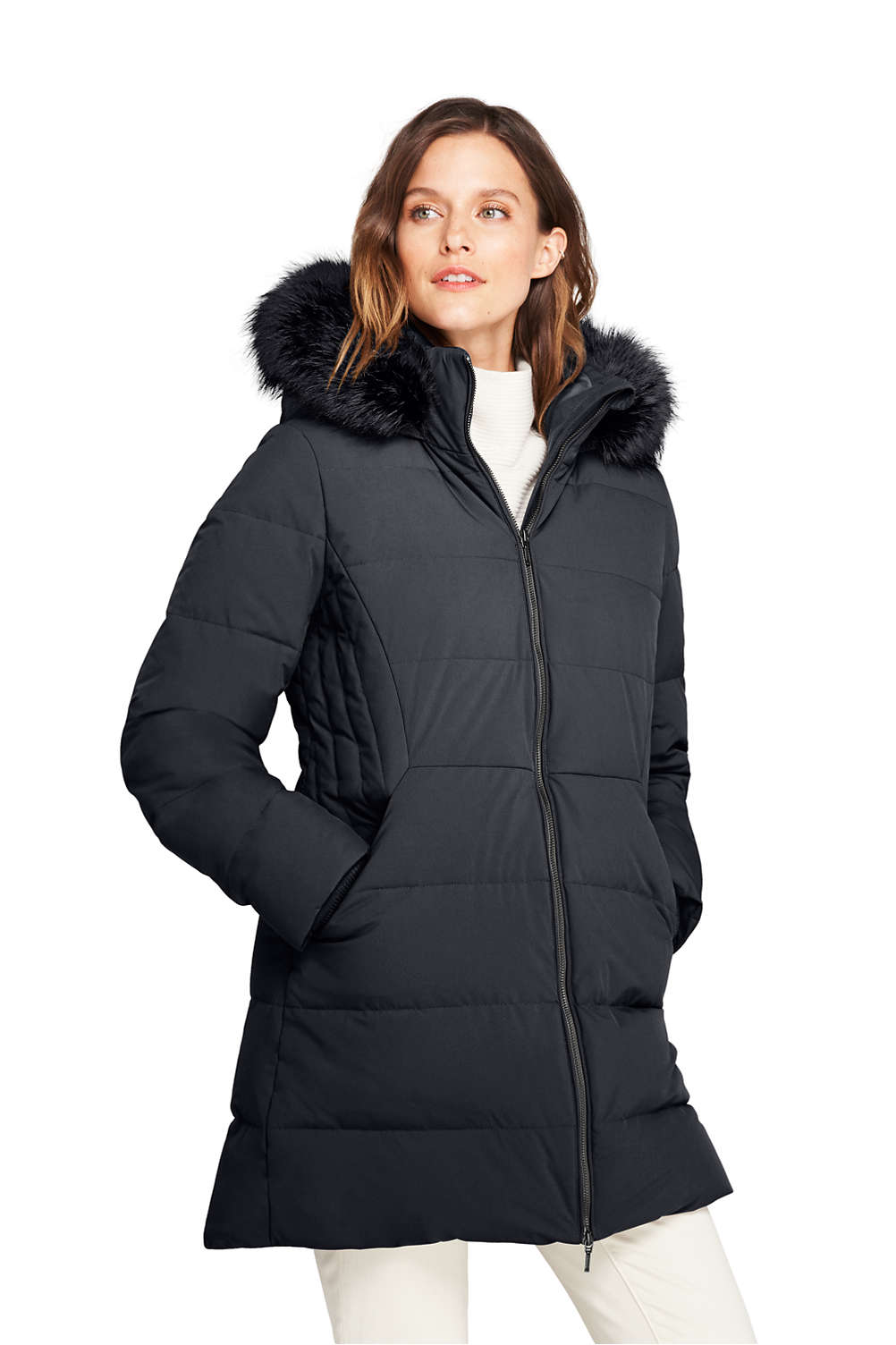 04bd4c894 Women's Stretch Long Down Coat from Lands' End