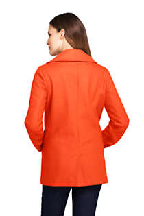 Women's Petite Wool Peacoat, Back