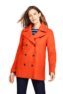 Women's Tall Wool Peacoat, Front