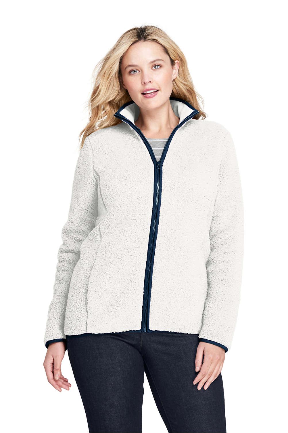 739094616a2 Women's Plus Size Cozy Sherpa Fleece Jacket from Lands' End