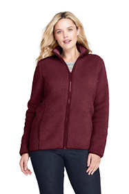 Women's Plus Size Cozy Sherpa Fleece Jacket