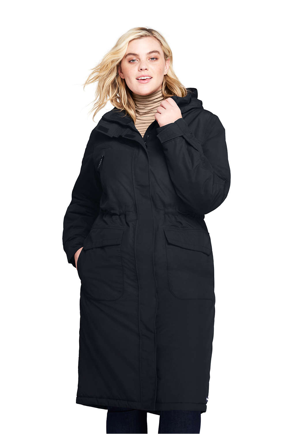 c207c2213 Women's Plus Size Squall Insulated Long Stadium Coat from Lands' End
