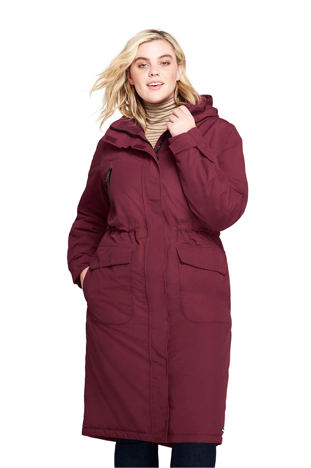 1412f489a97 Women s Plus Size Squall Insulated Long Stadium Coat from Lands  End