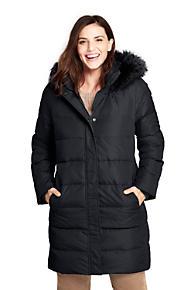 Women's Plus Size Faux Fur Hooded Down Winter Coat
