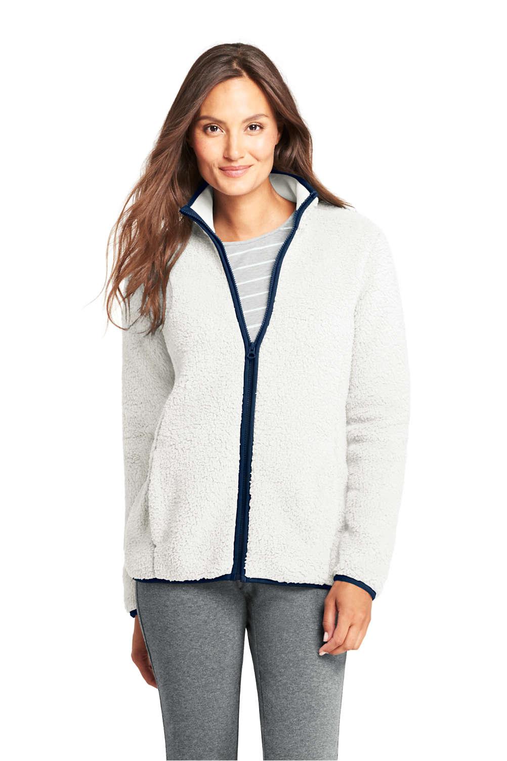 66ff2a37c2f Women's Cozy Sherpa Fleece Jacket from Lands' End