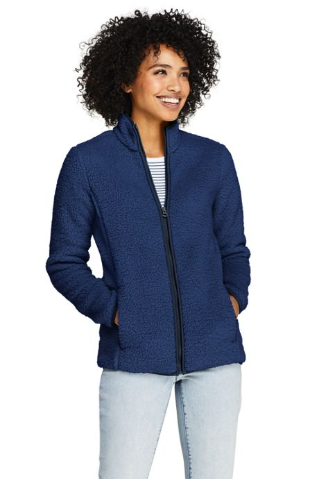 Women's Petite Cozy Sherpa Fleece Jacket
