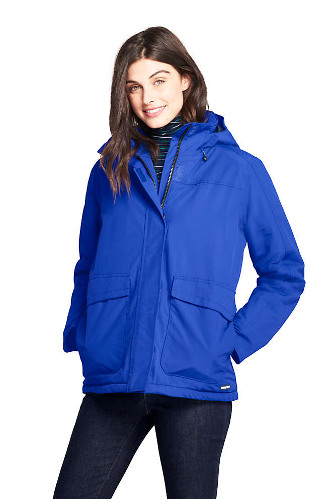 Women's Petite Hooded Squall Winter Jacket, Front