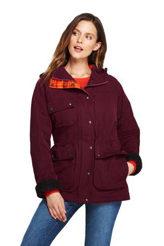 PrimaLoft Jacke mit weitem Kragen für Damen | Lands' End