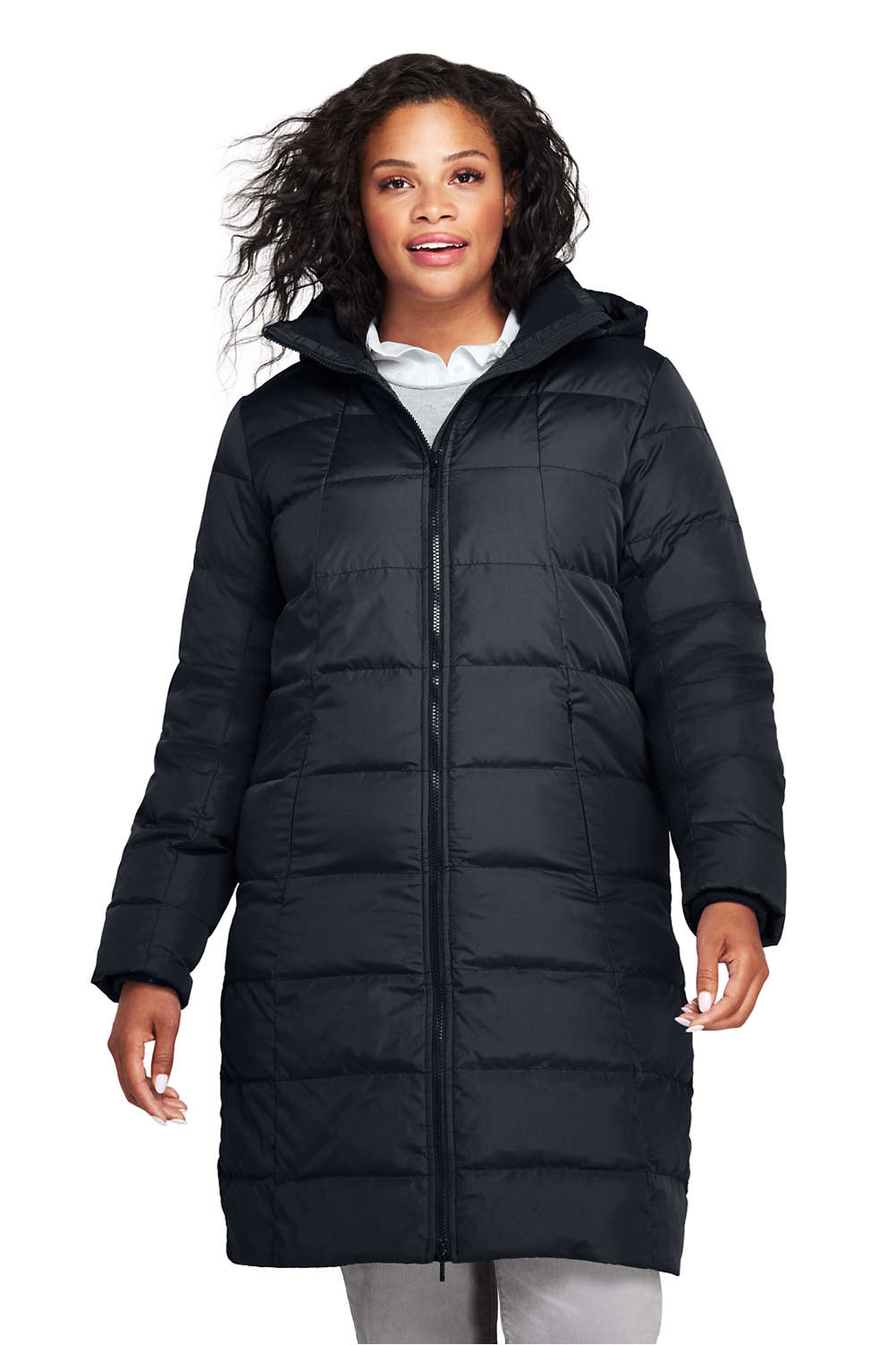 462f6cd67 Women's Plus Size Winter Long Down Coat from Lands' End