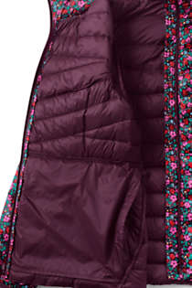 Women's Petite Print Ultralight Packable Down Jacket, alternative image