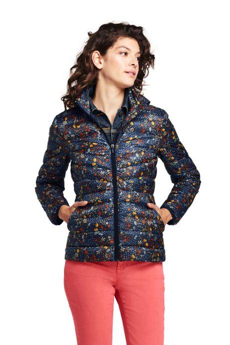 Women's Print Ultralight Down Puffer Jacket Packable