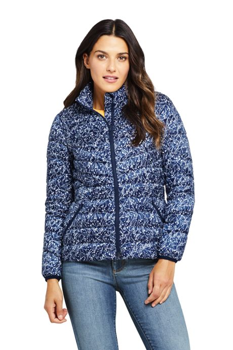 Women's Petite Print Ultralight Packable Down Jacket