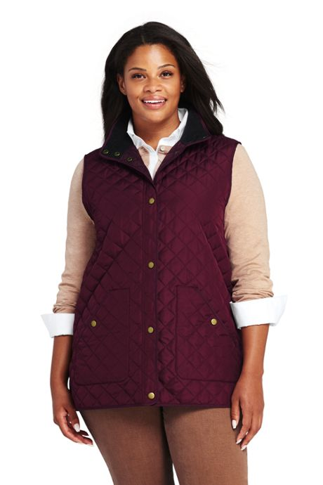 Women's Plus Size Quilted Barn Insulated Vest