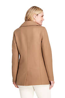 Women's Plus Size Wool Peacoat, Back