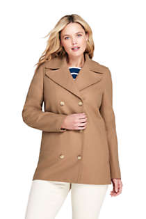 Women's Plus Size Wool Peacoat, Front