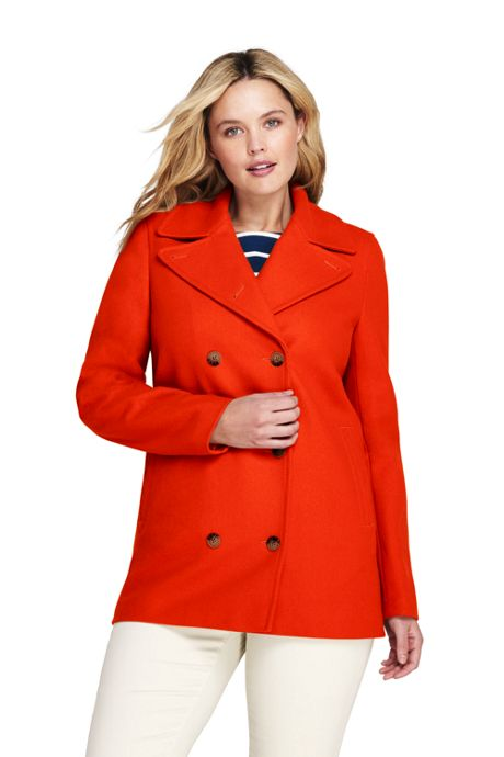 Women's Plus Size Wool Peacoat