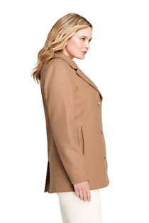 Women's Plus Size Wool Peacoat, Unknown