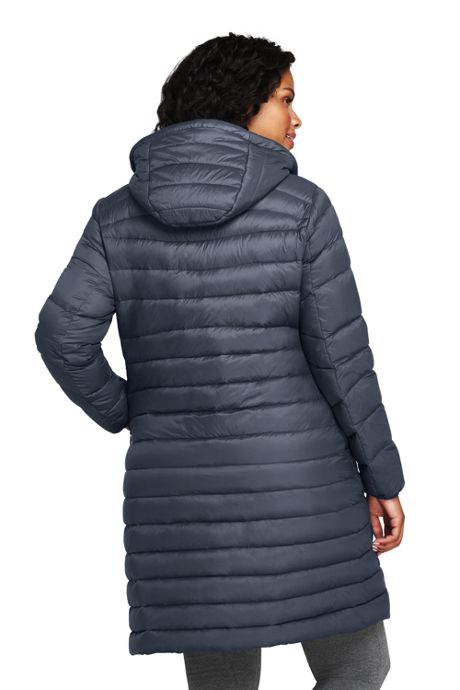 Women's Plus Size Ultralight Packable Long Down Coat