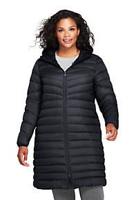 6dba160d6e Women's Plus Size Ultralight Packable Long Down Coat
