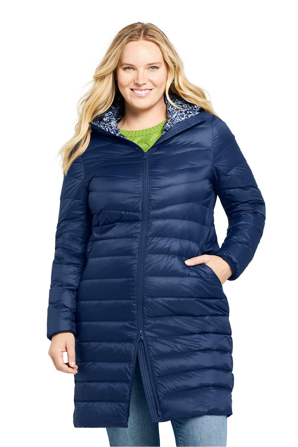 e0c9af36141 Women's Plus Size Ultralight Packable Long Down Coat from Lands' End