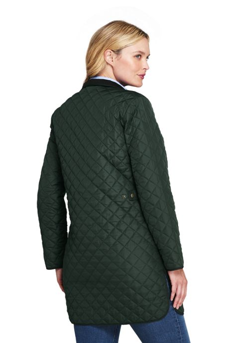 Women's Plus Petite Size Quilted Barn Insulated Coat