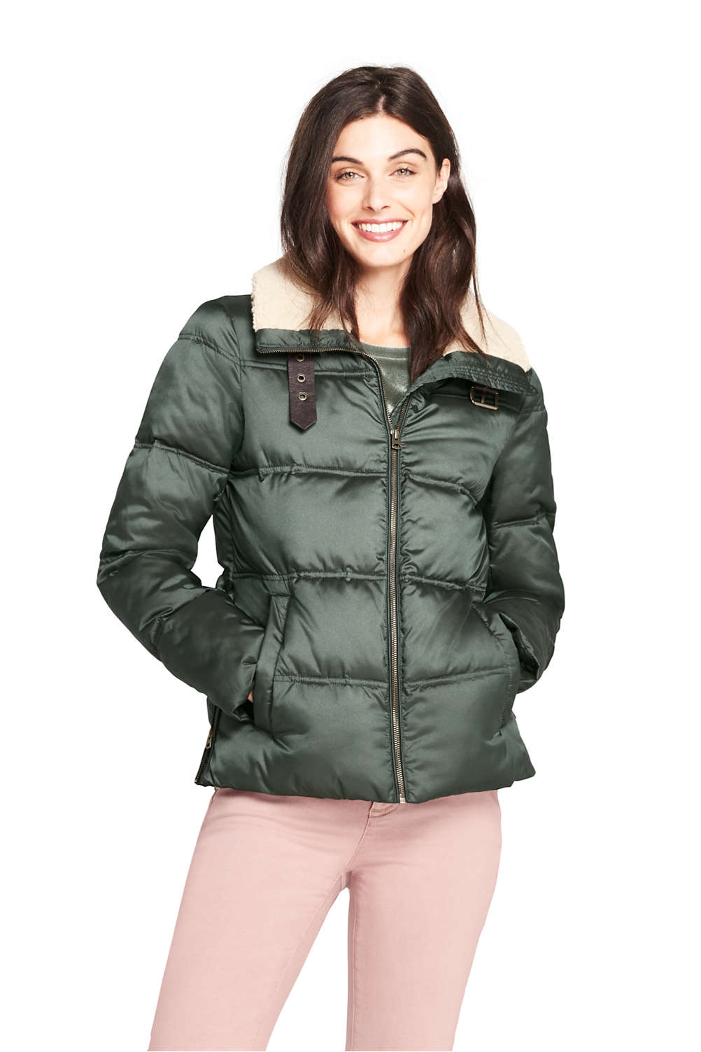 women s aviator insulated jacket from lands end