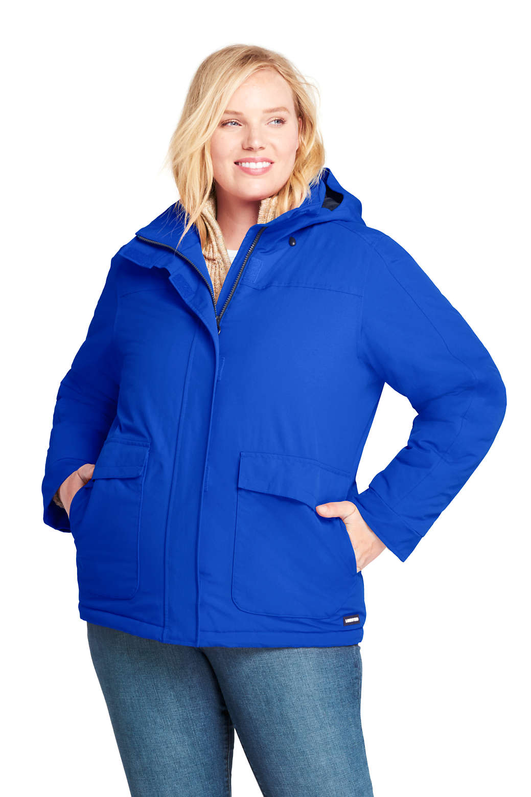 cbf0062c32 Women s Plus Size Hooded Squall Winter Jacket from Lands  End