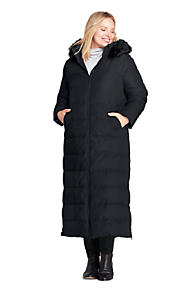 08fdfc4e327 Women's Plus Size Winter Long Down Coat with Faux Fur Hood