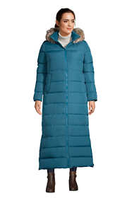 Women's Plus Size Winter Maxi Long Down Coat with Hood