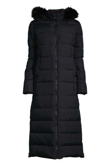 Women's Winter Maxi Long Down Coat with Hood