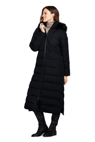 6ea7d992e Women's Fur Hooded Maxi Down Coat