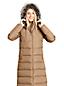 Le Manteau Long en Duvet Capuche Fausse Fourrure, Femme Stature Petite