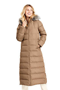 Long Down Parka With Fur Hood
