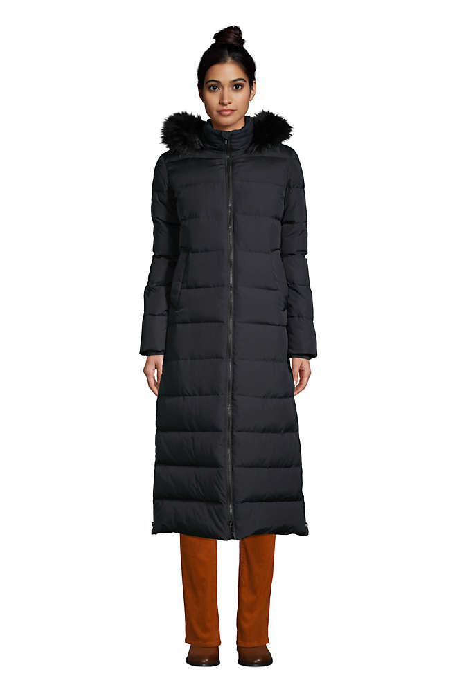 Women's Winter Maxi Long Down Coat with Hood, Front