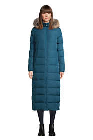 Women's Winter Maxi Long Down Coat with Hood