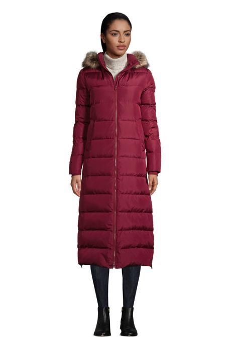 Women's Petite Winter Maxi Long Down Coat with Hood