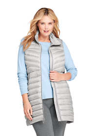 Women's Plus Size Print Ultralight Packable Long Down Vest