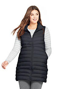 Women s Plus Size Ultralight Long Down Vest Packable a6a29ec692