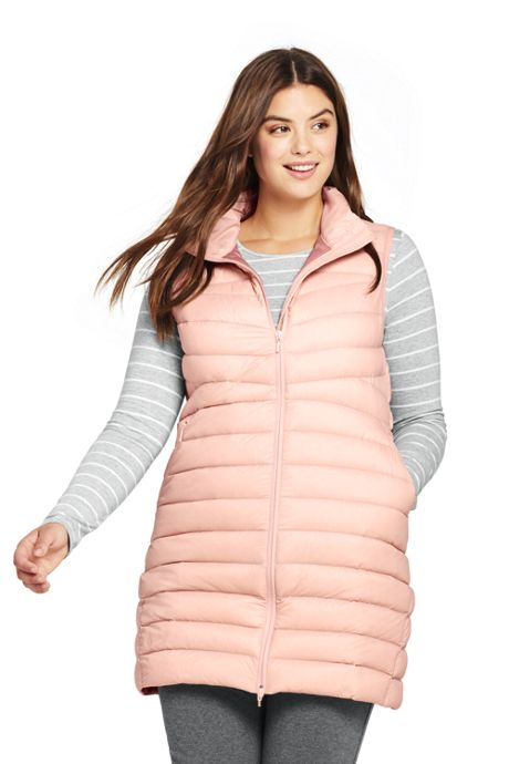 Women's Plus Size Light Down Packable Vest