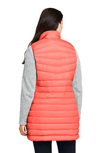 Women's Plus Size Ultralight Packable Down Vest, Back