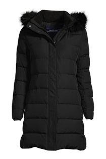 Women's 600 Down Winter Long Coat with Hood