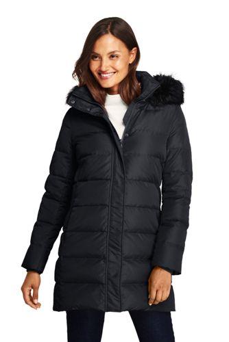 0b62e112890ba Women s Winter Long Down Coat with Faux Fur Hood