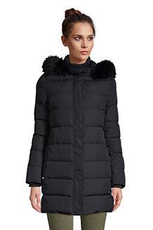 Women's Faux Fur Hooded Down Coat