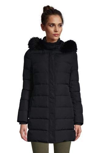 Women's Plus Hooded Down Coat