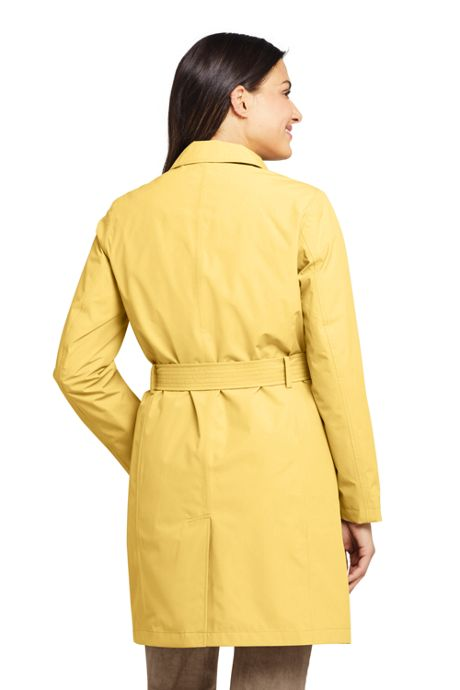 Women's Petite Hooded Waterproof Long Raincoat
